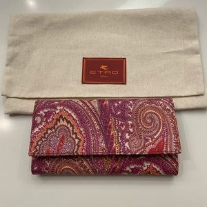 NEW Etro Paisley Wallet